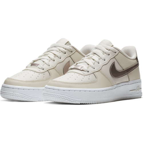 BUTY JUNIOR LIFESTYLE NIKE AIR FORCE 1 (GS) BEŻOWE 314219-021
